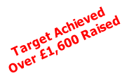 Target Achieved Over £1,600 Raised